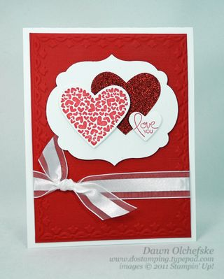 stampin up, dostamping, dawn olchefske, demonstrator, ps i love you, valentine