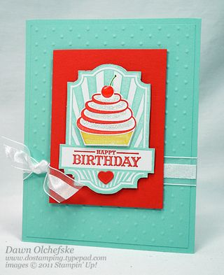 stampin up, dostamping, dawn olchefske, demonstrator, sweet cake, birthday