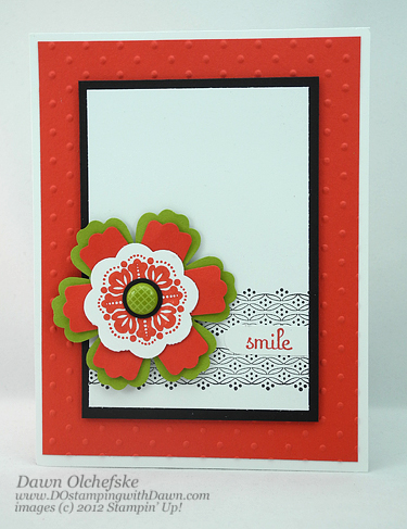 stampin up, dostamping, dawn olchefske, demonstrator, fresh vintage, punch art, blossom punch, modern label punch, punch art flower