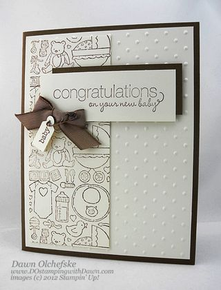 stampin up, dostamping, dawn olchefske, demonstrator, packed for baby