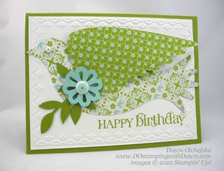 stampin up, dostamping, dawn olchefske, curly cute, Elegant-Bird