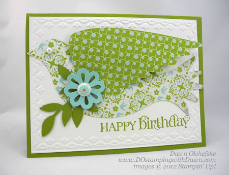stampin up, dostamping, dawn olchefske, demonstrator, everyday enchantment dsp, big shot, elegant bird die,
