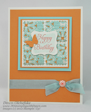 stampin up, dostamping, dawn olchefske, demonstrator, elementary elegance, everyday enchantment dsp, birthday, big shot