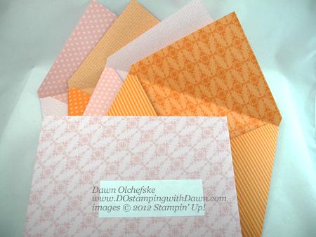 stampin up, dostamping, dawn olchefske, demonstrator, envelopes, simply scored diagonal plate