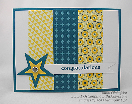 stampin up, dostamping, dawn olchefske, demonstrator, summer smooches dsp, graduation, big shot, delightful dozen, star #2 die