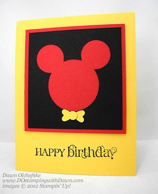 stampin up, dostamping, dawn olchefske, curly cute, Mickey-Mouse