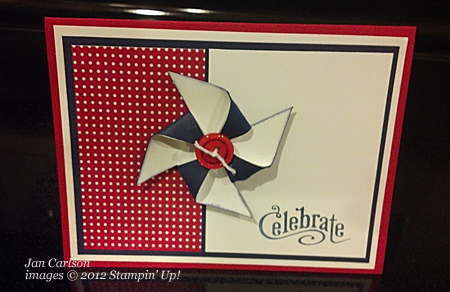 stampin up, dostamping, Patriotic Cards, DOstamperSTARS, Jan Carlson