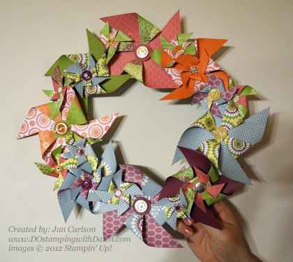 District Floral Pinwheel Wreath-Jan