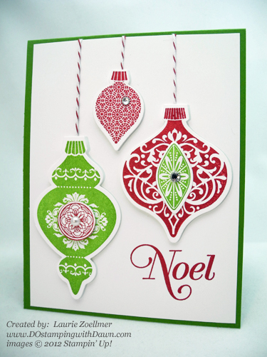 stampin up, dostamping, dawn olchefske, demonstrator, ornament keepsakes, laurie zoellmer