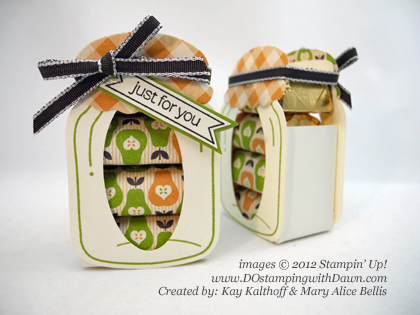 stampin up, dostamping, dawn olchefske, demonstrator,nugget jar, perfectly preserved, kay kalthoff, big shot