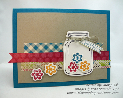 stampin up, dostamping, dawn olchefske, demonstrator, mary fish, perfectly preserved bundle, cannery framelits, big shot