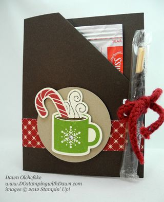 stampin up, dostamping, dawn olchefske, demonstrator, cocoa packet, sensational season