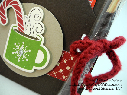 stampin up, dostamping, dawn olchefske, demonstrator,scentsational season bundle. cocoa packet holder