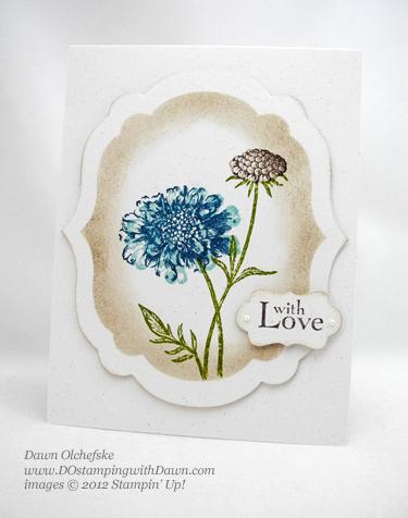 stampin up, dostamping, dawn olchefske, demonstrator, faux frame, field flowers, label collection framelits, decorative label punch