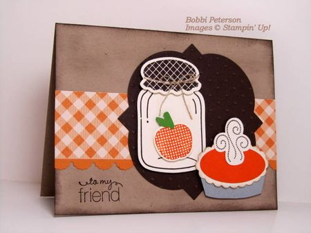 stampin up, dostamping, dawn olchefske, demonstrator, bobbi peterson, perfectly preserved, pumpkin pie punch art
