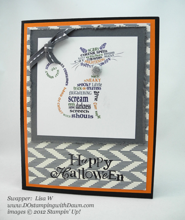 stampin up, dostamping, dawn olchefske, demonstrator, lisa w, frightening feline, halloween