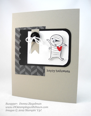stampin up, dostamping, dawn olchefske, demonstrator, donna zielgelman, googly ghouls, halloween