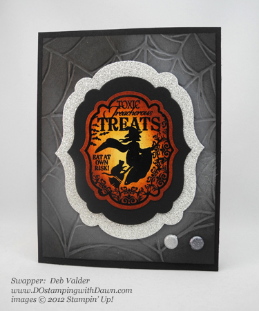 stampin up, dostamping, dawn olchefske, demonstrator, deb valder, toxic treats, halloween