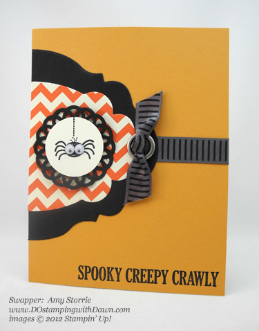 stampin up, dostamping, dawn olchefske, demonstrator, amy storrie, googly ghouls, halloween