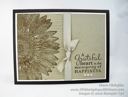 stampin up, dostamping, dawn olchefske, demonstrator, double background stamping, sunflower
