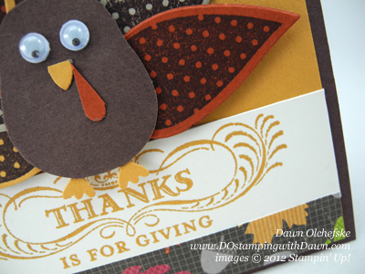 stampin up, dostamping, dawn olchefske, demonstrator, autumn accents die, wonderfall, turkey