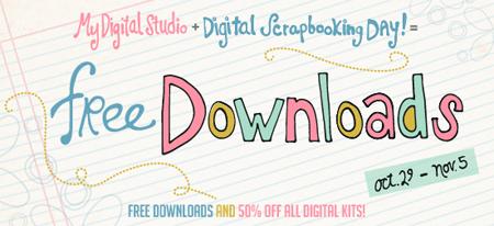 March 2012 blog train: free digital scrapbook kit | digital.
