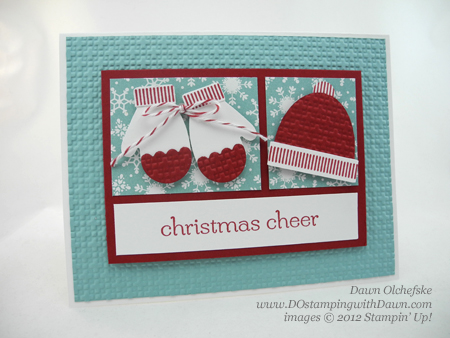 stampin up, dostamping, dawn olchefske, demonstrator, punch art, mitten builder punch, make a mitten, christmas