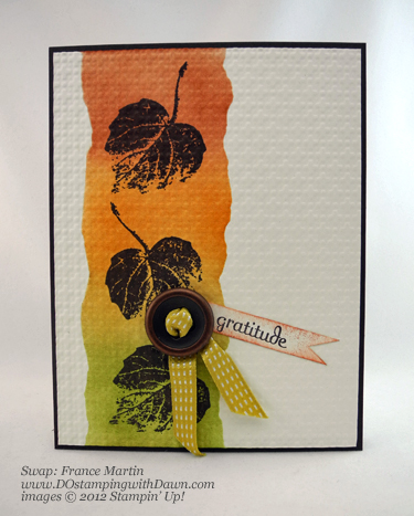 stampin up, dostamping, dawn olchefske, demonstrator, france martin, french foliage