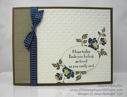 stampin up, dostamping, dawn olchefske, demonstrator, you are loved, double embossing