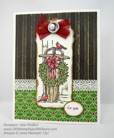stampin up, dostamping, dawn olchefske, demonstrator, winter memories, christmas, ann walker, two tags die, big shot