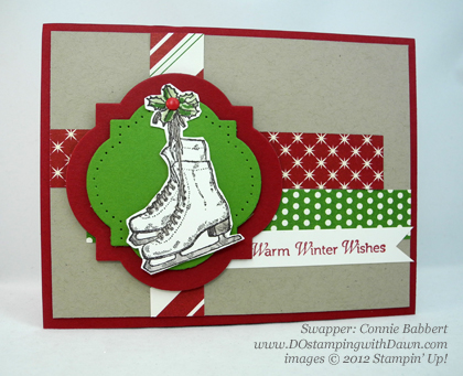 stampin up, dostamping, dawn olchefske, demonstrator, winter memories, christmas, connie babbert, window frames collection, big shot