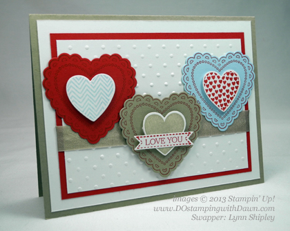 stampin up, dostamping, dawn olchefske, demonstrator, lynn shipley, hearts a flutter, valentine