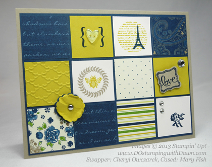 stampin up, dostamping, dawn olchefske, demonstrator, cheryl owczarek, collage curios, ciao baby