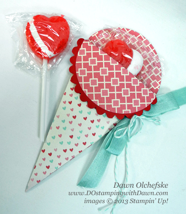 Stampin Up, Big Shot, Petal Cone Die, Valentine ideas, Treat Pouch, More Amore, Spring Catalog, DOstamping, Dawn Olchefske, Stampin Up Demonstrator