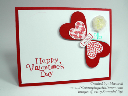 Hearts a Flutter Butterly, valentine, stampin up, dostamping, dawn olchefske