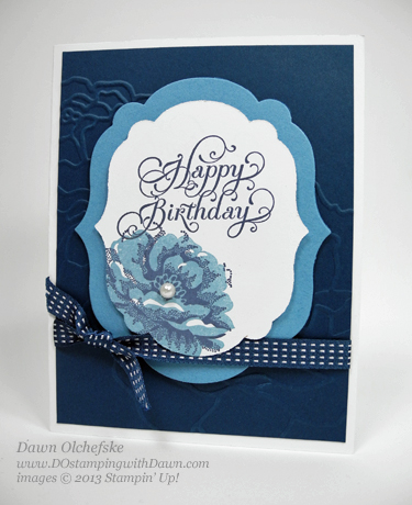 stampin up, dostamping, dawn olchefske, stampin up demonstrator, card making, stippled blossoms, flower, big shot, birthday