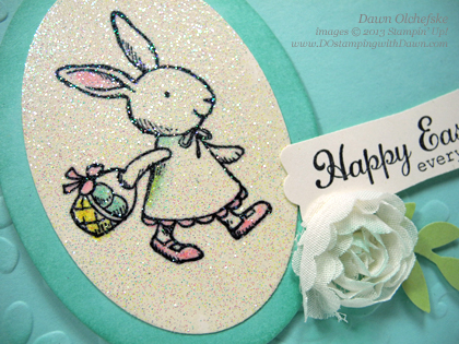 stampin up, dostamping, dawn olchefske, demonstrator, Everybunny, Easter, Faux Diamond Dust Technique, Heat Embossing