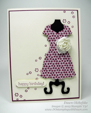 stampin up, dostamping, dawn olchefske, demonstrator, all dressed up, framelits, spring catalog 2013, Big Shot