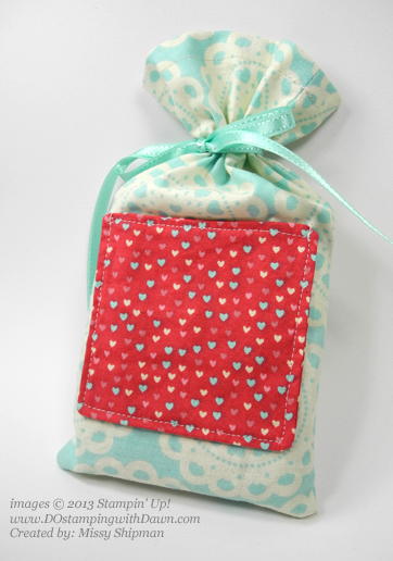 stampinup, dostamping, dawn olchefske, demonstrator, fabric frenzy, Missy shipman, fabric pouch, designer fabric ideas