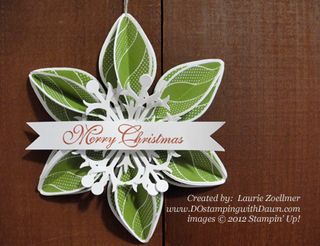 stampin up, dostamping, dawn olchefske, demonstrator, ornament keepsakes bundle, christmas, ornament, laurie zoellmer