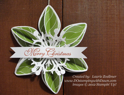 stampin up, dostamping, dawn olchefske, demonstrator, laurie zoellmer, ornament keepsake bundle, ornament, christmas, big shot