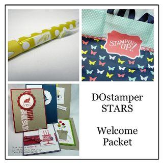 DOstamperSTARS Welcome Gift, stampin up, dawn olchefske, dostamping