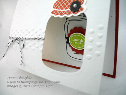 stampin up, dostamping, dawn olchefske, demonstrator, perfecty preserved, window card, big shot