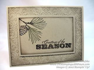 stampin up, dostamping, dawn olchefske, demonstrator, sponged frame, watercolor winter, christmas