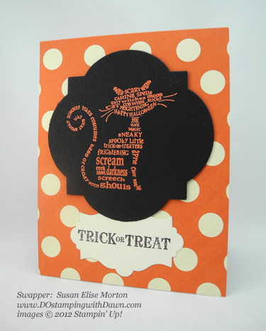 stampin up, dostamping, dawn olchefske, demonstrator, susan elise morton, frightening feline, halloween