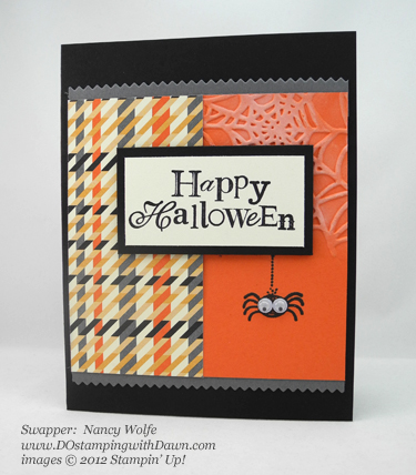 stampin up, dostamping, dawn olchefske, demonstrator, nancy wolfe, googly ghouls, halloween