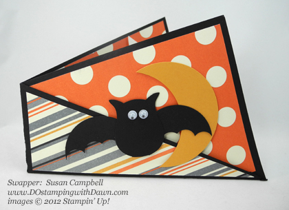 stampin up, dostamping, dawn olchefske, demonstrator, susan campbell, twist card, halloween