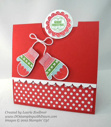 stampin up, dostamping, dawn olchefske, demonstrator, laurie zoellmer. make a mitten, mitten builder punch, christmas