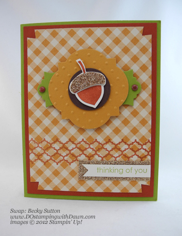 stampin up, dostamping, dawn olchefske, demonstrator, becky sutton, autumn accents die, wonderfall