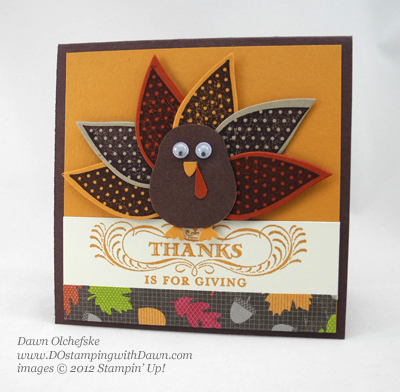 stampin up, dostamping, dawn olchefske, demonstrator, wonderfall, turkey